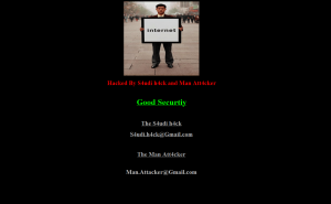 Hacker modified my website homepage to this. He even scraped an image on my website and put it on his splash page.