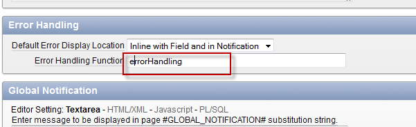 Error Handling Function