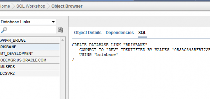 Oracle Database Link