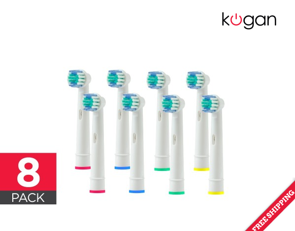 Kogan 8 Pack Toothbrush Head